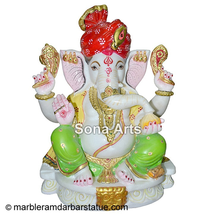 Decorative Marble Ganesha