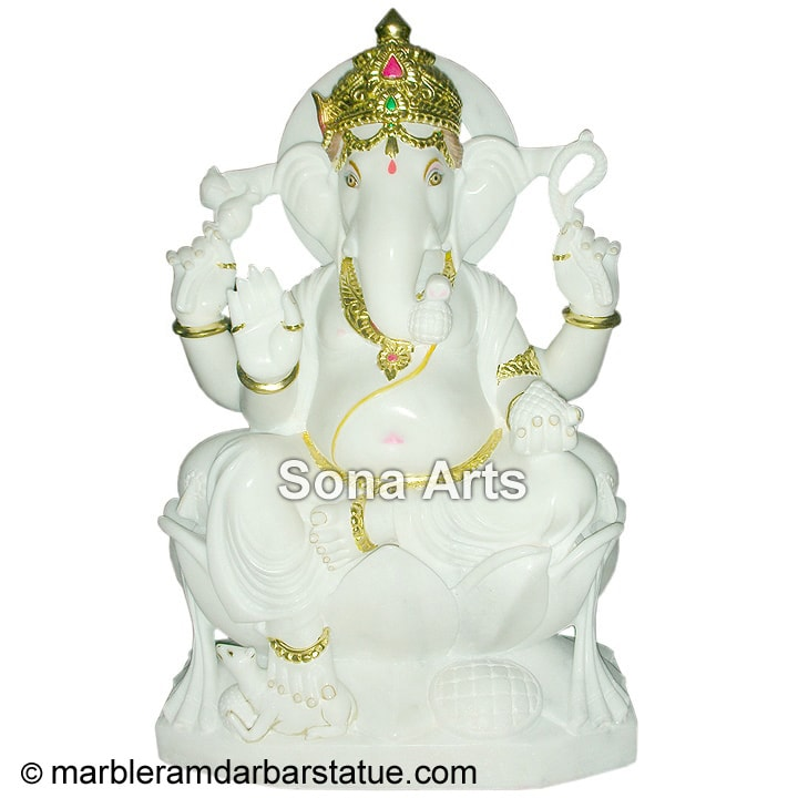 Beautiful Ganesha from Spotless White Marble