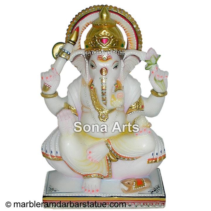White Marble Ganesh Statue Marble Ganesh Statue Manufacturer