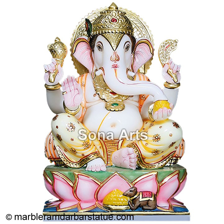 Marble Ganesh Statue from Jaipur