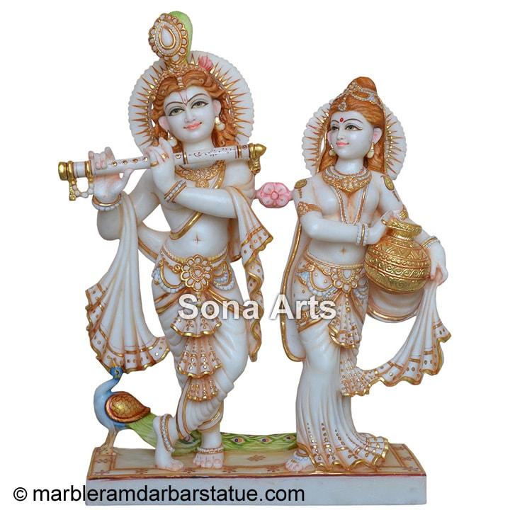 Marble Radha Krishna Statue Beautiful Marble Radha