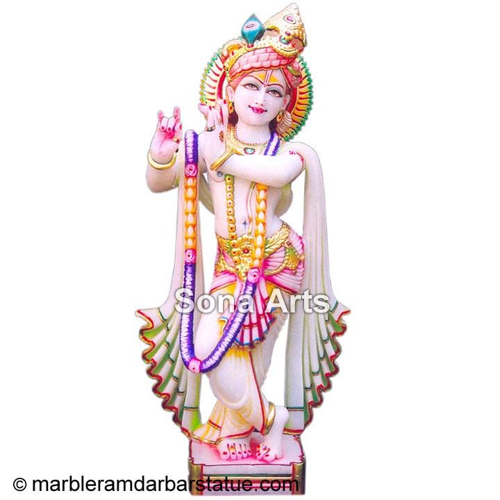 White Marble Krishna Statue Sri Krishna Statue Manufacturer