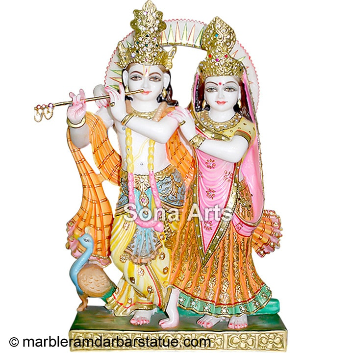 Beautiful Radha Krishna from Marble