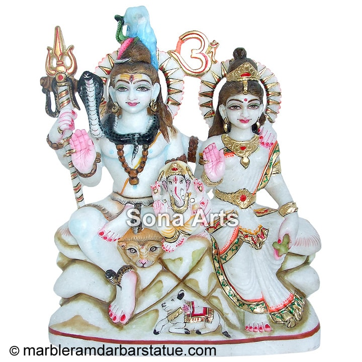 Marble Shiv Parvati Statues Exporter