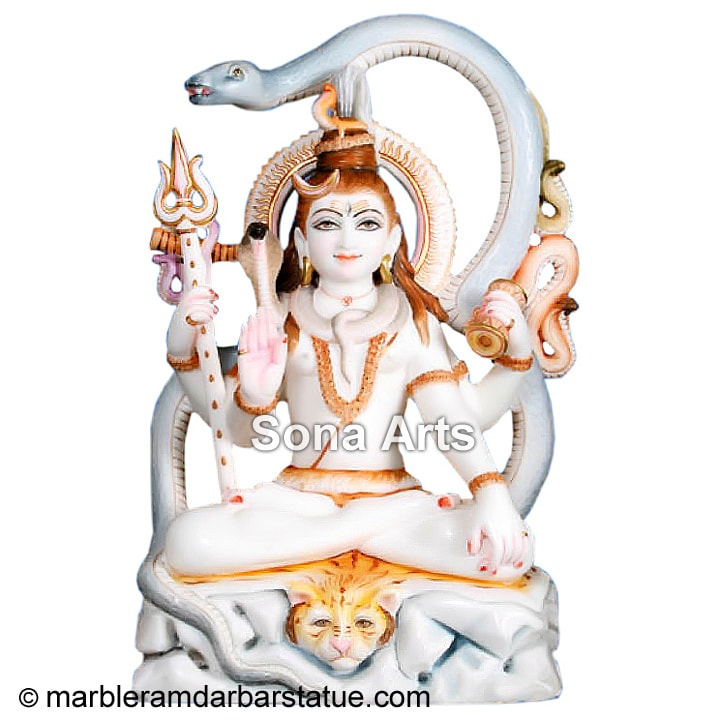 Lord Shiva Marble Statue for Sale