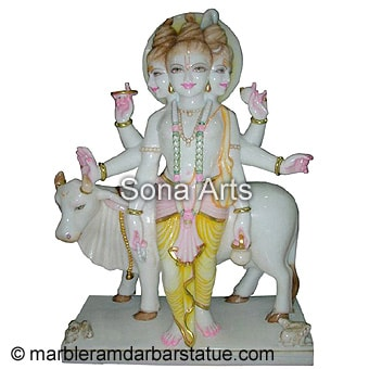 Lord Dattatreya Marble Statue for Sale