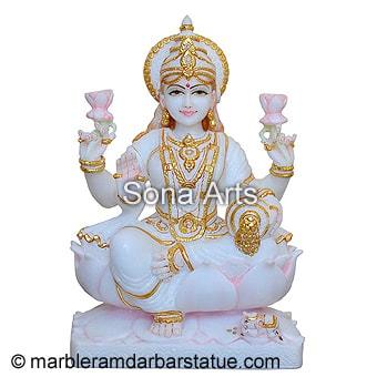 Santoshi Maa Rose Gold Statue Hindu Brass Religious Statue