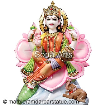 Goddess Laxmi Statue In Marble