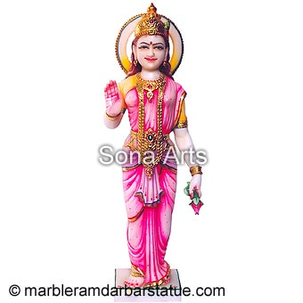 Marble Standing Laxmi Statue